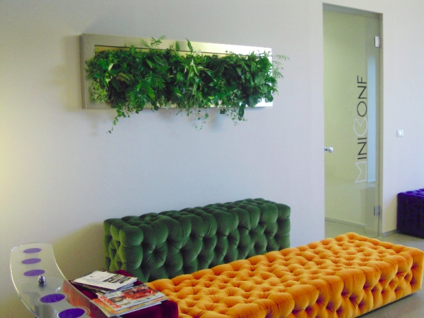 green style..pareti vegetali nell'interior design/?green wall in ... - Quadri Con Piante Vere