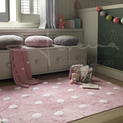 tapetes-pontos-cor-rosa